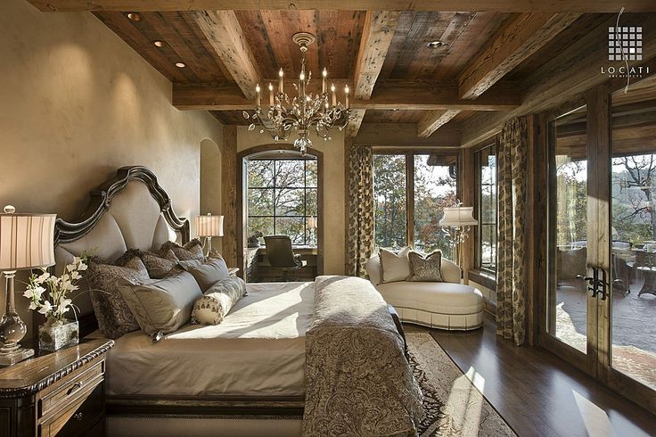 Laminate, Exposed Beams, Rustic, Country, French, Window seat, Chandelier
