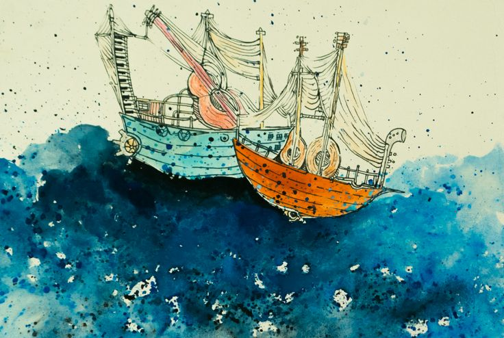 #ship #children's book #illustration #sea