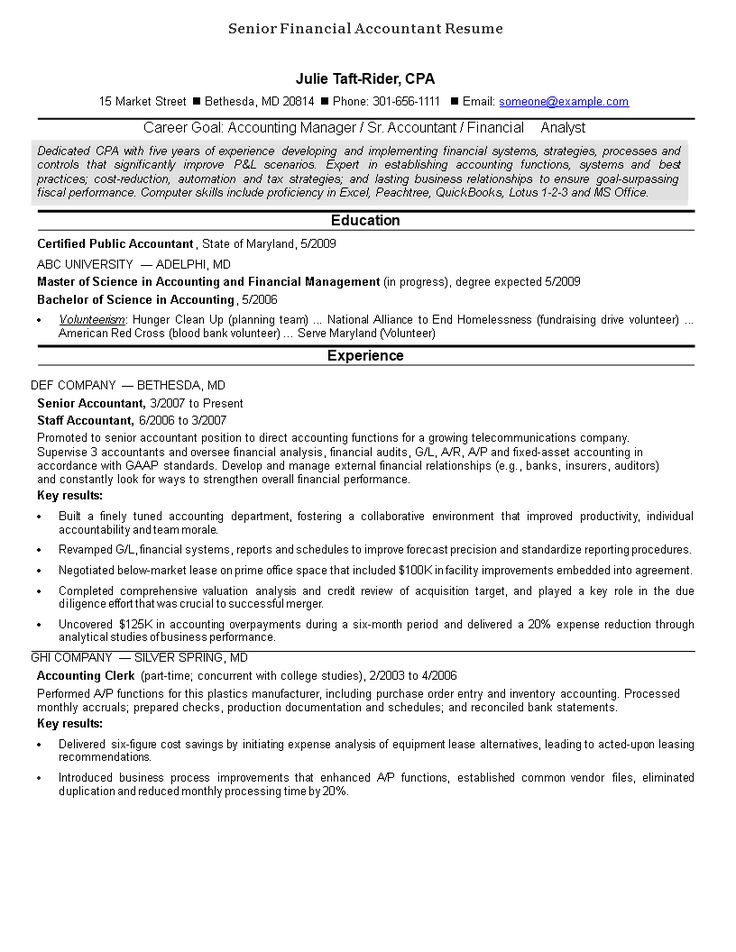 38+ Senior accountant resume samples Resume Examples