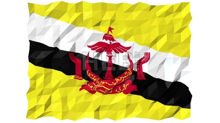 Flag of Brunei 3D Wallpaper Animation, National Symbol, Seamless Looping Footage... ... by #Hebstreit