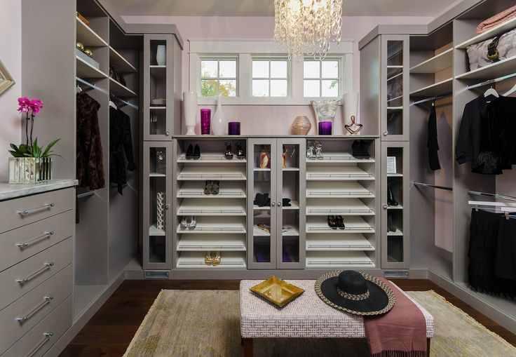 Designed by Closet Factory Richmond, Va., this beautiful master closet simply makes the Richmond Symphony House the envy of the neighborhood.