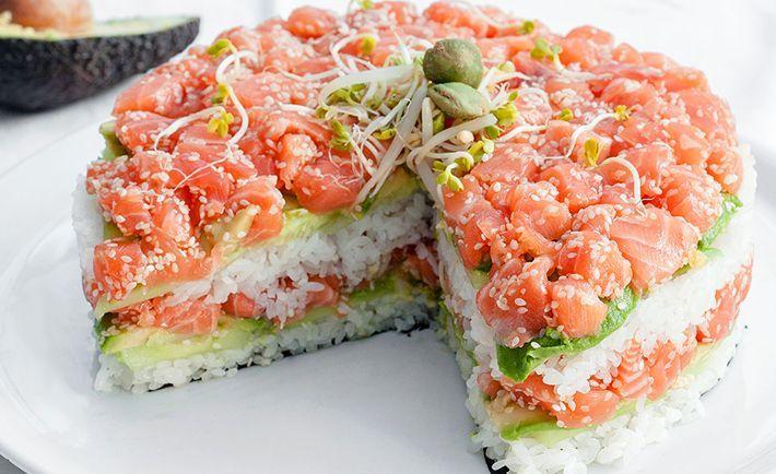 PASTEL DE SUSHI | Gastronomía Regia