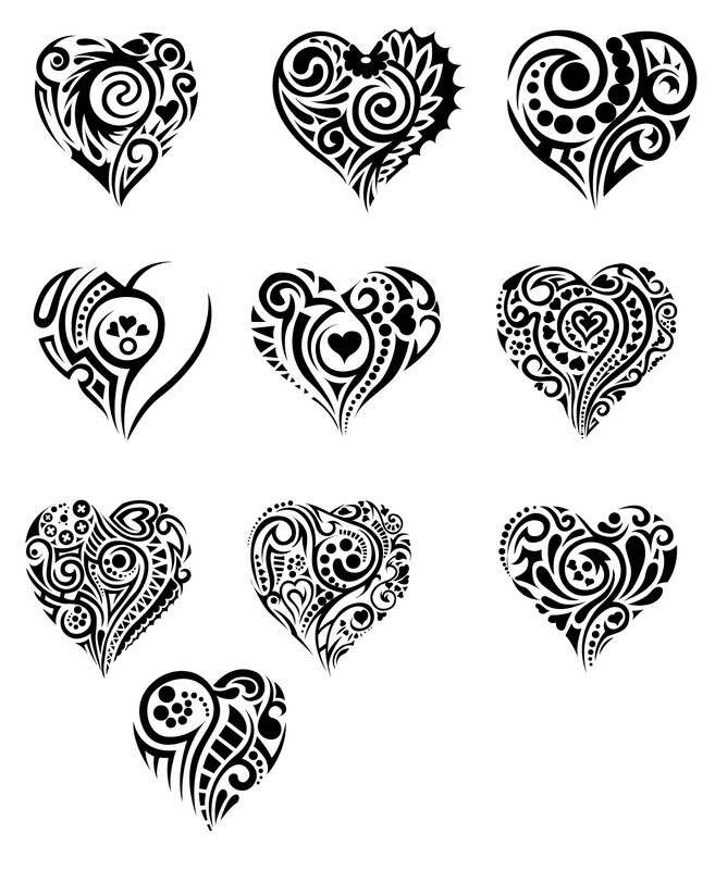 Cute Tribal Hearts