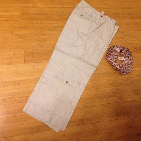 Capri kakis- freshly dry cleaned Capri kakis. Scarf by Anne Klein available too Woolrich Pants Capris
