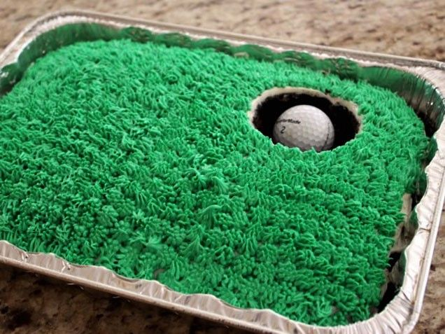 Cute Golf Cake Idea! Great for Father's Day