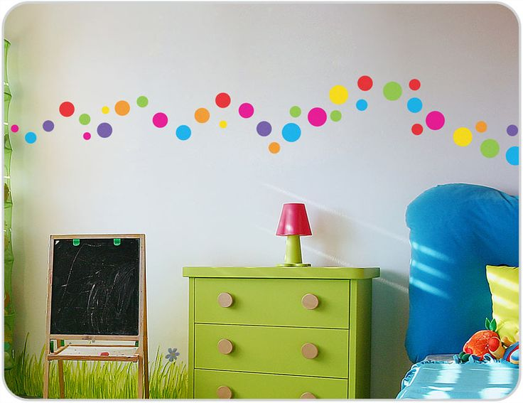 Polka Dots Wall Stickers   Perfect For Kids Bedrooms ~ Kids? Part 88