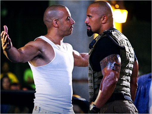 vin diesel and the rock!! they were great in the fast five together! hopefully they will make another one