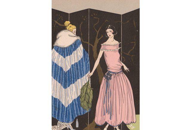 Art deco dress cloak pochoir 1922 art gallery for Pochoir deco