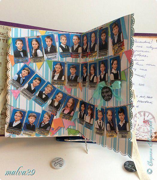 Скрапбукинг Выпускной День учителя Бумагопластика Книга пожеланий учителю Бисер Бумага фото 17