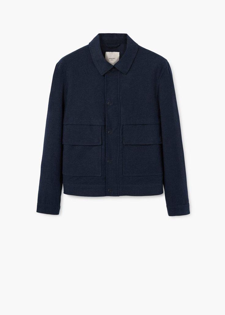 Blusão algodão bolsos - Casacos de Homem | MANGO Man Portugal