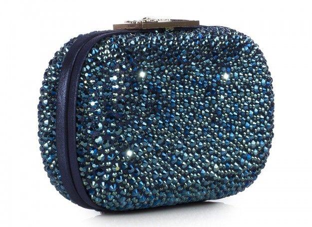 $ Minaudiere con cristalli blu, Le Silla collezione A/W 2013/2014