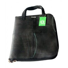 """Laptop cover made from recycled inner tubes collected from junk yards.Suitable for 15"""" laptops!"""