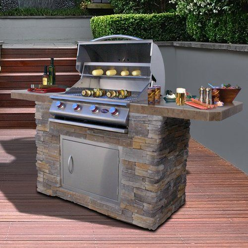 Found it at Wayfair - Bistro 4-Burner Built-In Propane Gas Grill with Smoker