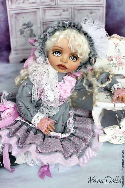 Эмилия - серый,кукла,кукла в подарок,кукла ручной работы,кукла интерьерная