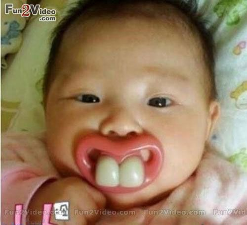 Funny Baby Picture With Big Teeth