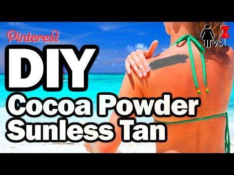DIY Cocoa Powder Sunless Tan Lotion, Corinne VS Pin #2 - YouTube