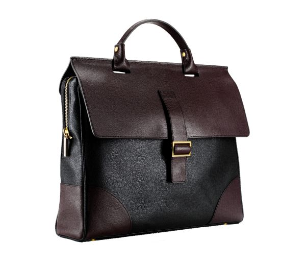business bag in pure italian grained leather, made in Italy. Classic bag for businessmen, available also in black. www.MARKGIUSTI.com
