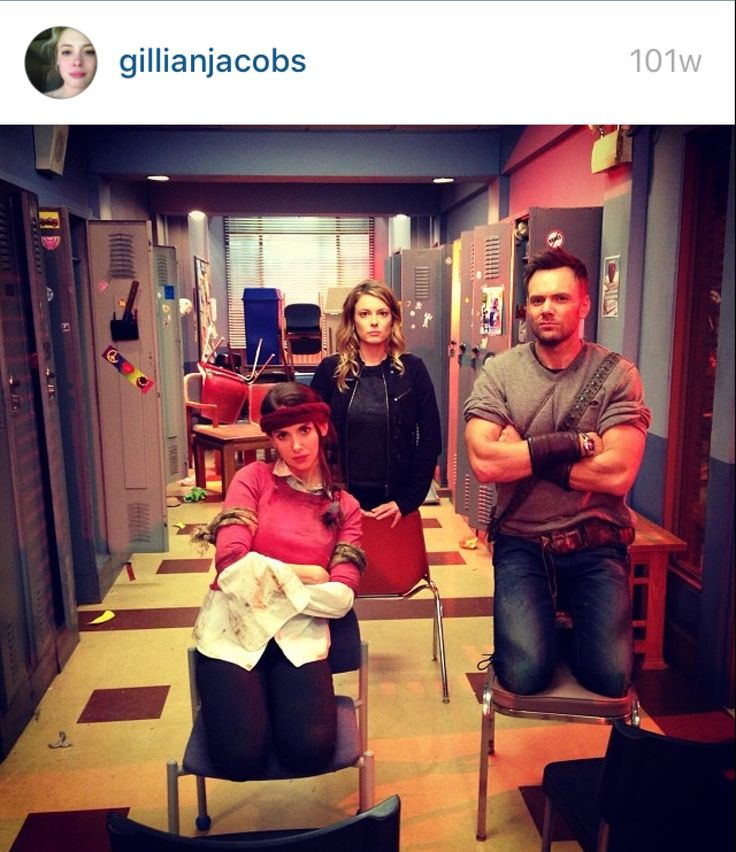 Behind the scenes of Community from Gillian Jacobs's Instagram