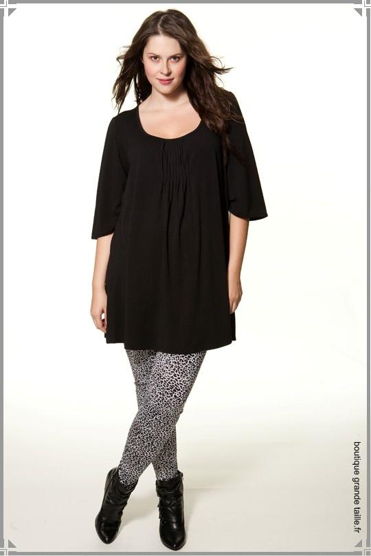 leggings motif panth re noir et blanc femme ronde ultra. Black Bedroom Furniture Sets. Home Design Ideas