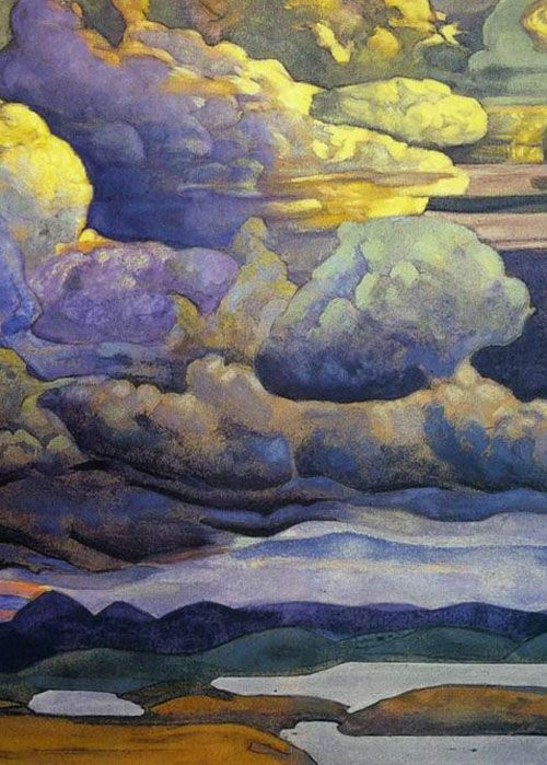 Nicholas Roerich (1874–1947)  (It has a Group of Seven viiiiibe)