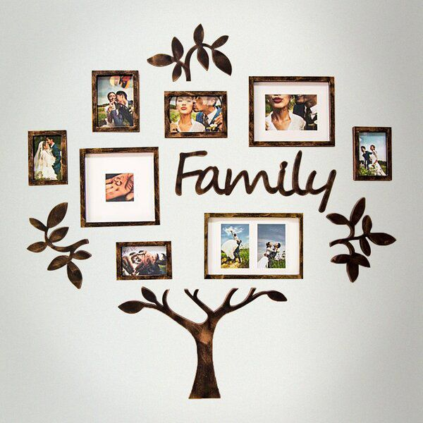 Netherton 13 Piece Collage Picture Frame Set Family Tree Picture Frames Family Tree Photo Frame Family Tree Frame