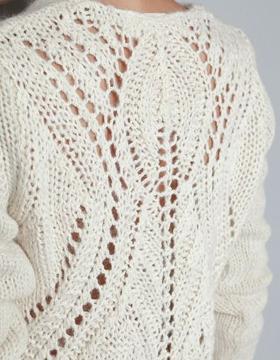 SWEATER WITH OPEN-WORK AT THE BACK - Knitwear - Woman - New collection - ZARA Spain