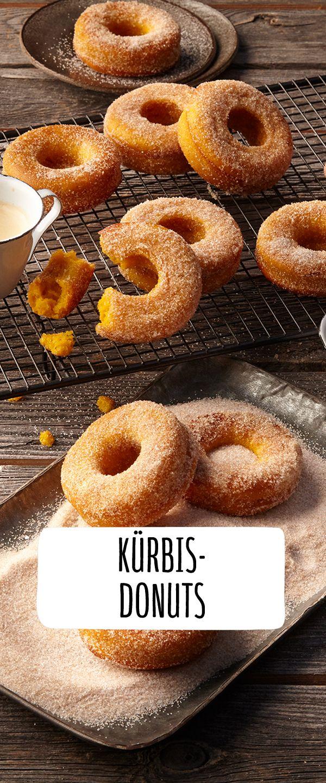 Kürbis-Donuts   – Süßes oder Saures? Happy Halloween!