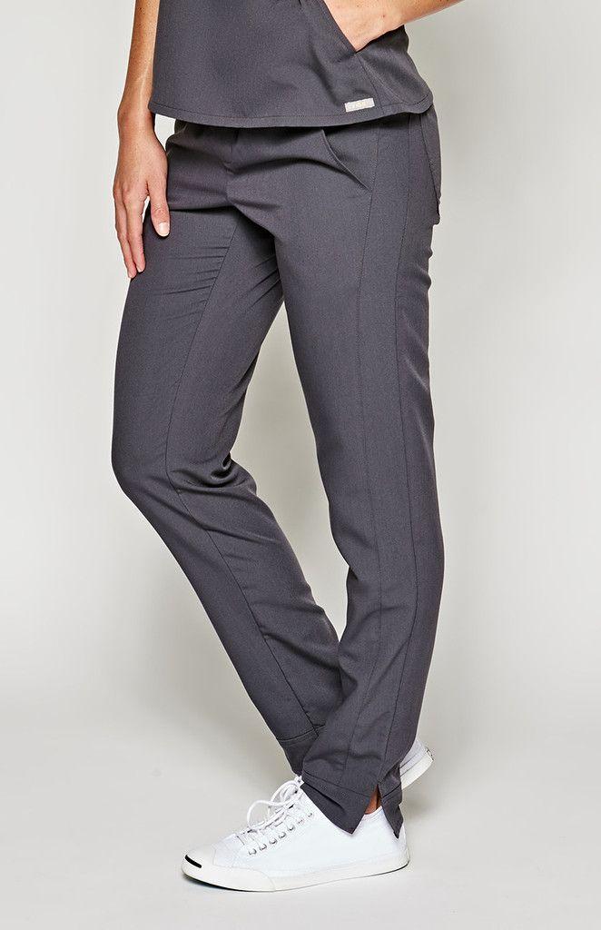 women's santana track scrub pants - charcoal – FIGS