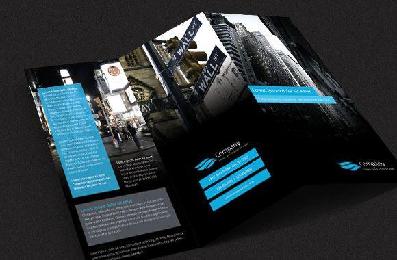 #brochure #black #blue