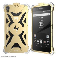 aluminum metal frame back cover case for sony xperia z5 premium (gold)