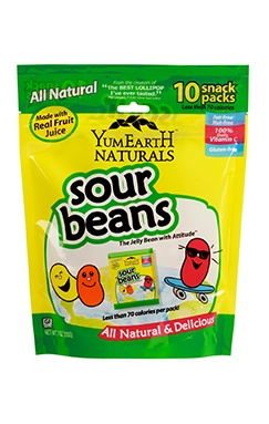 Try New Products for Free on Swaggable! ---- YumEarth Naturals Sour Beans are fun and fantastically sour flavored jelly beans made with natural ingredients and containing no artificial colors or flavors and no major allergens, such as gluten, nu...
