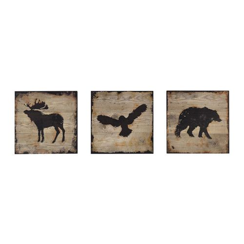 BJÖRNAMO Picture, set of 3 IKEA The pictures have a deep frame and can be hung on a wall or placed on a shelf.