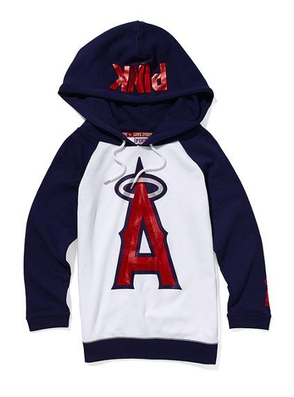 cute!Los Angels Angels, Victoria Secret Pink, Favorite Sports, Basebal Hoodie, Birthday Lists, Los Angeles Angels, Dreams Wardrobes, Baseball Hoodie, Angels Baseball