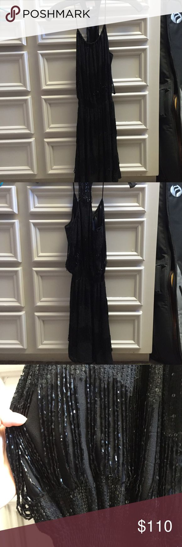 Parker NY Beaded Black Dress Never worn, basically perfect condition Parker mini dress. Parker Dresses Mini