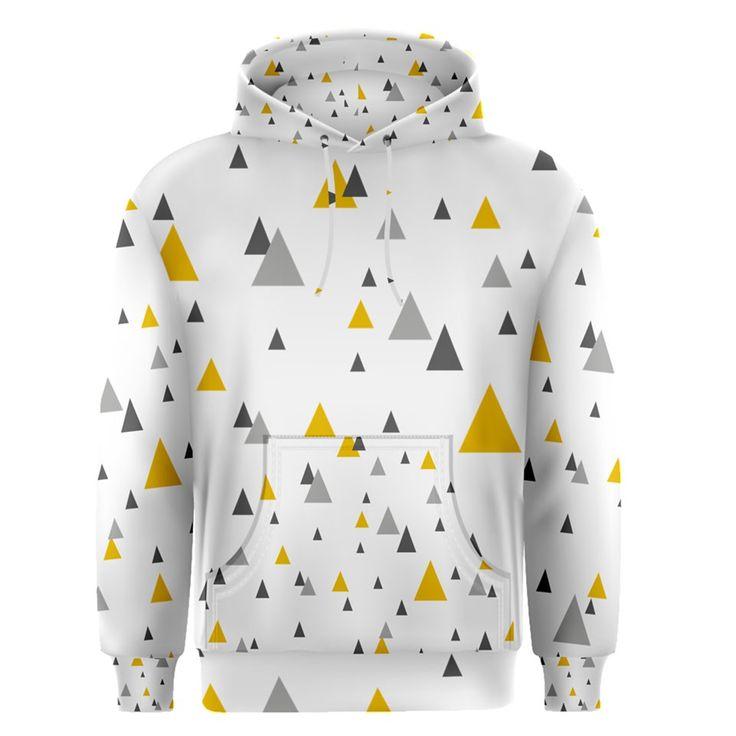 Pastel+Random+Triangles+Modern+Pattern+Men's+Pullover+Hoodies