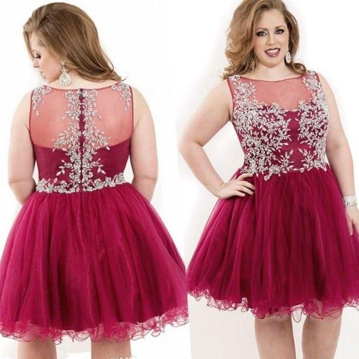 Plus size short homecoming dresses - http://pluslook.eu/fashion/plus-size-short-homecoming-dresses.html. #dress #woman #plussize #dresses