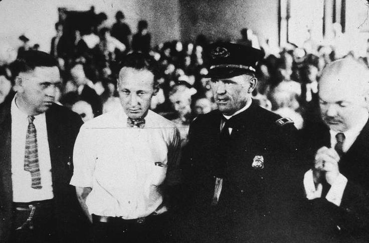 July 21,1925: 'MONKEY TRIAL' ENDS  -     The so-called 'Monkey Trial' ends in Dayton, Tennessee, with John T. Scopes found guilty of violating state law for teaching Darwin's Theory of Evolution. (The conviction was later overturned on a technicality.)