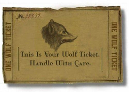 wolf ticket vintage