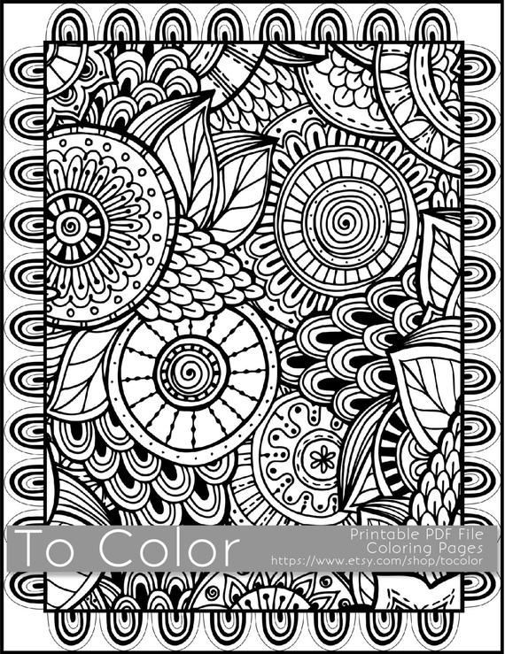 Free Large Print Coloring Books For Adults In 2021 Coloring Pages To Print,  Coloring Books, Coloring Pages