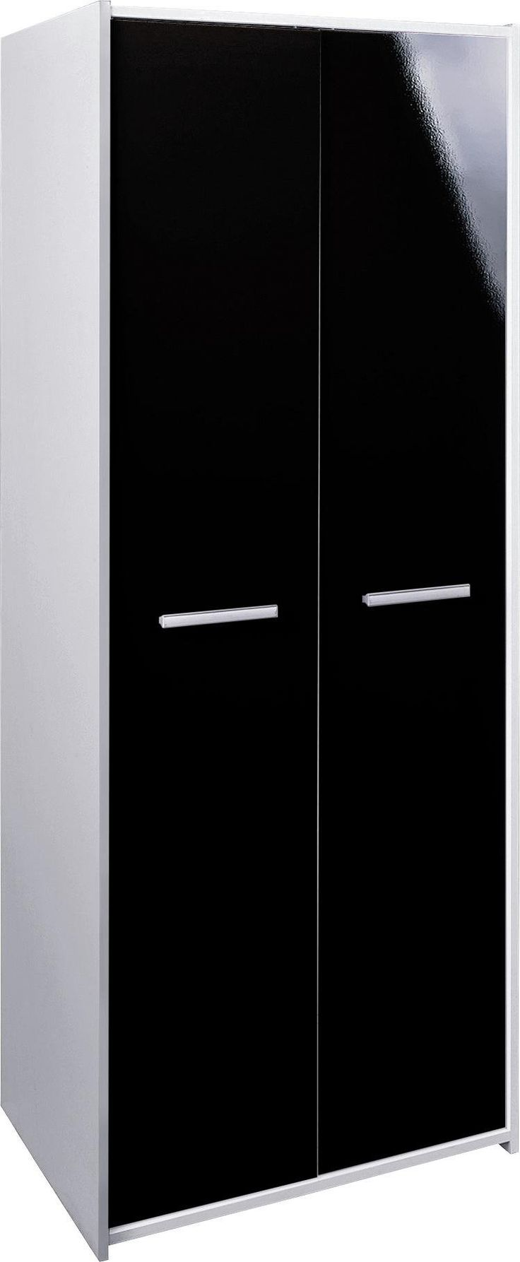 cool HOME New Sywell 2 Door Wardrobe - White & Black Gloss
