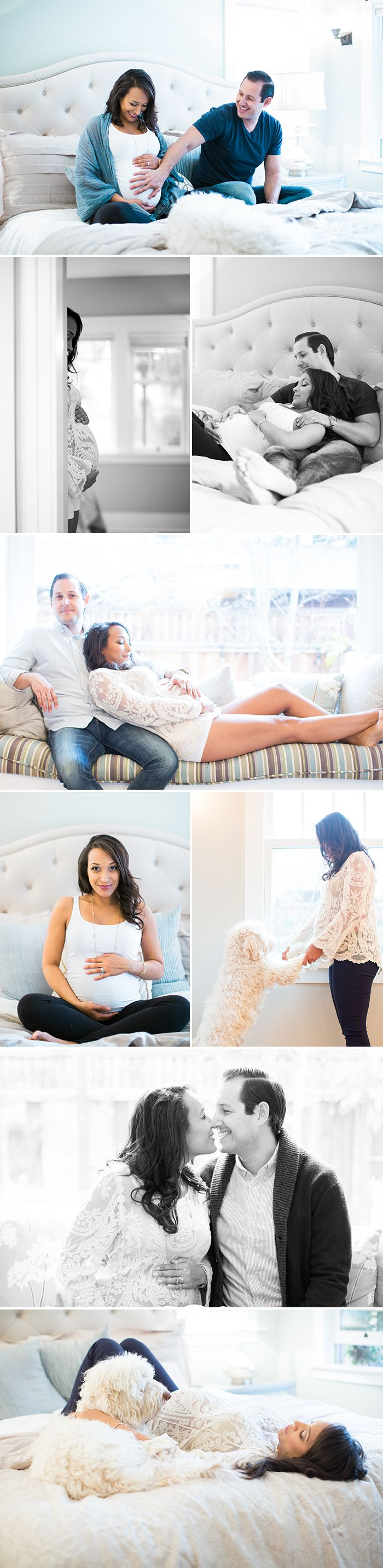 Love our at home maternity photos!                                                                                                                                                                                 More