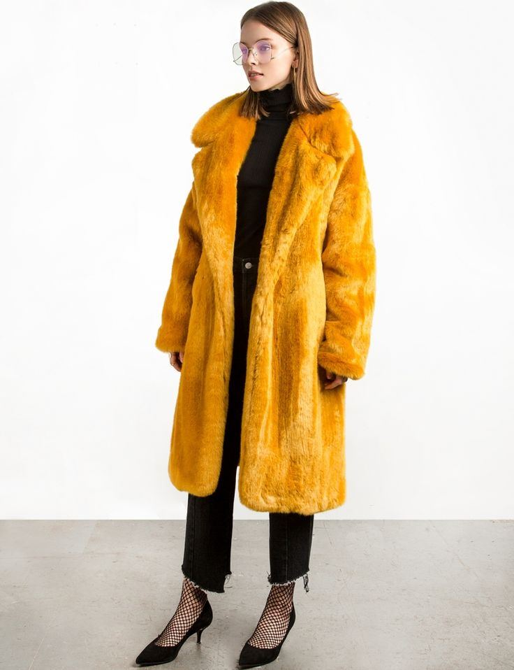 We are strongly falling in love with multicolored faux fur coats Don't fear of grey