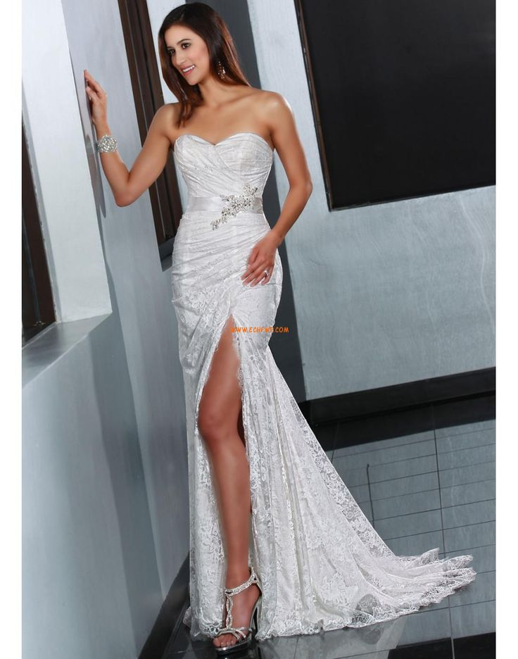 Court Train Summer Sleeveless Wedding Dresses 2014