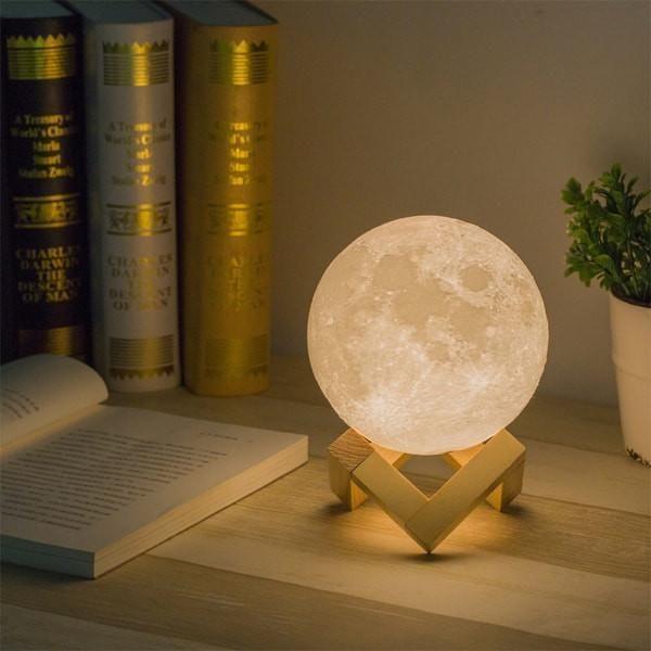 3d Lunar Moon Lamp Gaia Stock Unique Lamps Modern Lamp Room Lamp