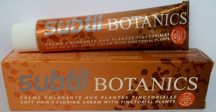Subtil Botanics - Soft Hair Coloring Cream with Tinctorial Plants - Permanent Color - Size: 2.0 Fl. Oz. Tube - Shade Selection: 4.77 - Intense Chestnut Brown / Chatain Marron Profond -- Want additional info? Click on the image.