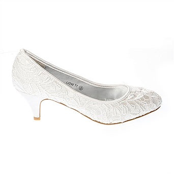 Ivory Court Shoes Low Heel