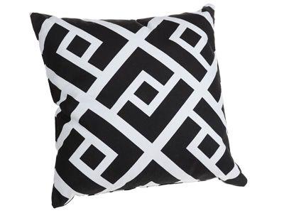 COUSSIN DÉCORATIF ''CLORIS'' - en coton noir et blanc, 40x40 cm - code article :   26930