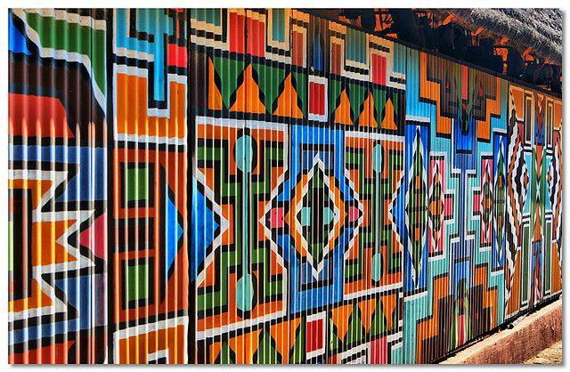 Coloured Wall  Lesedi, near Johannesburg, South Africa. Photo taken by Nico Conradie