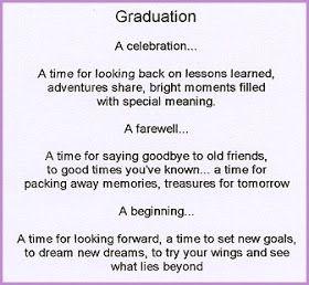 25+ best ideas about Graduation poems on Pinterest | Graduation ...