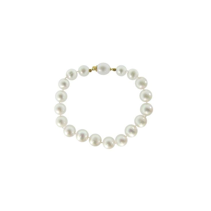 Βραχιόλι Κ18 Χρυσό με λευκά Μαργαριτάρια - M121643